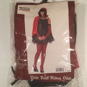 "Teen Halloween Costume  ""LITTLE DEAD RIDING HOOD"" Junior Teen Size 3/5"